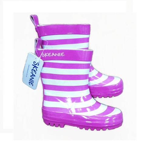 Skeanie Rainboots Girls - Pink Stripe