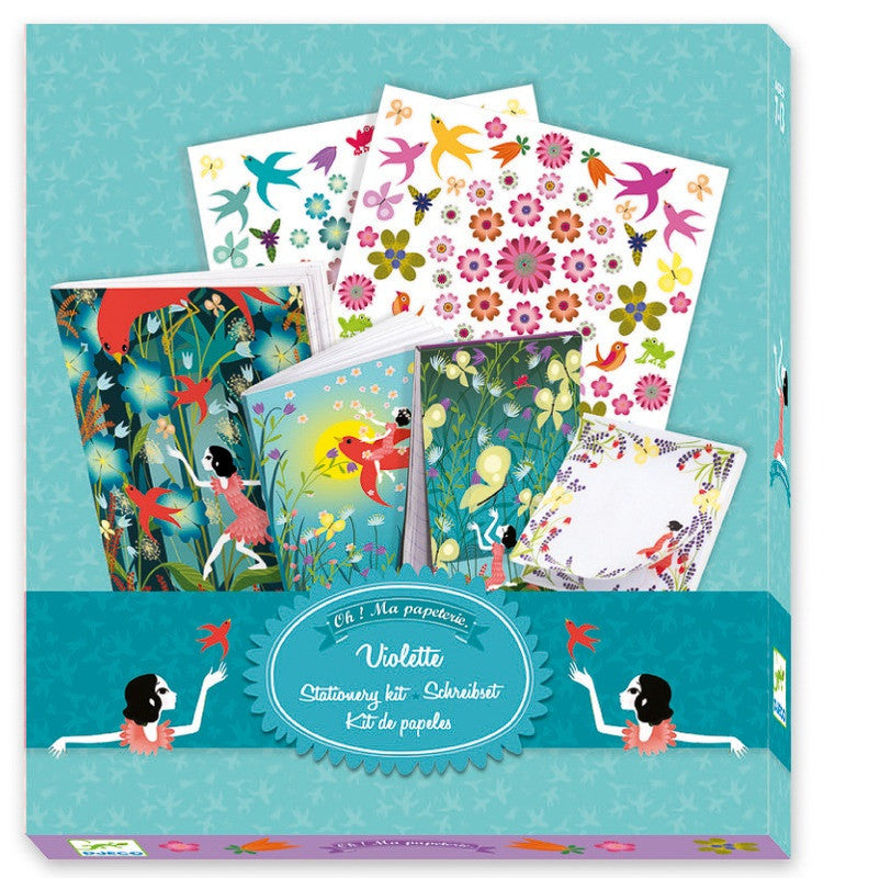 This set is a terrific assortment of decorative stationary with a notebook and stickers for collecting and decorating young girls ideas and plans.