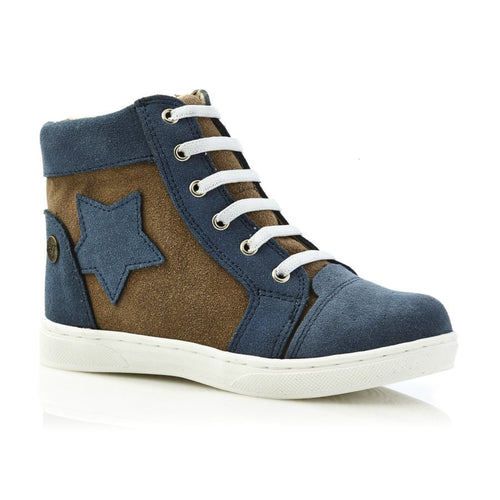 Walnut Kik High Top - Navy Taupe