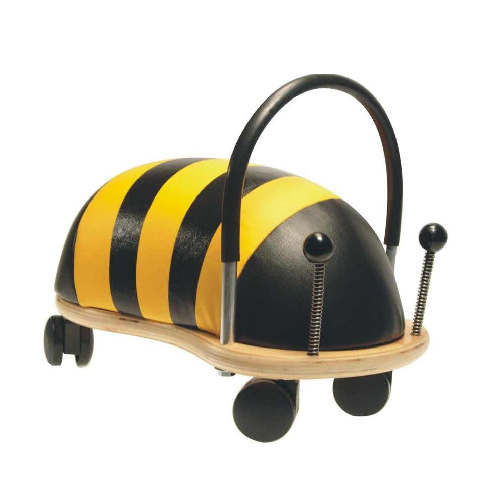 Wheely Bug Bee - Large - Ride on Toys - Wheely Bugs have a friendly, fun and colourful design that is an instant attraction for little boys and girls.They are a fabulous aid for kids just learning to walk and later with gross motor skills.These Wheely Bugs can move in any direction, back, forward and side ways and are safe, stable and made from quality long lasting materials. ages 2+
