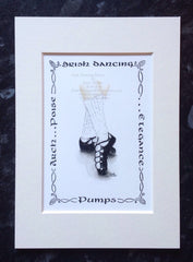 Irish Dance Pumps Irish Art Print