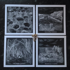 Irish Greeting Card Gift Pack of Four North Coast and Glens or Belfast images.
