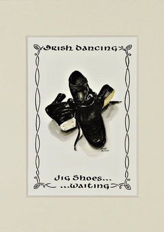 Irish Dancing Jig Shoes Print