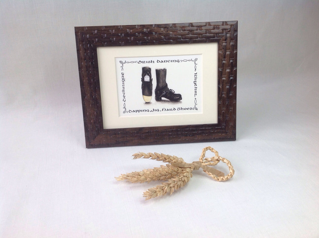 Irish Dancing Tapping Jig Hard Shoes Print