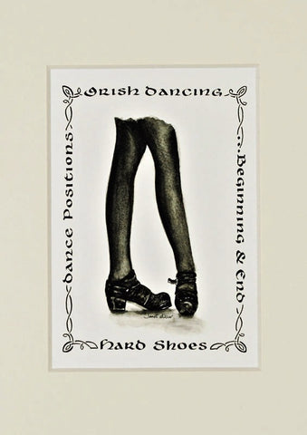 Irish Dancing Hard Shoes Print