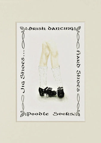 Irish Dancing Poodle Socks and Hard Shoes Print