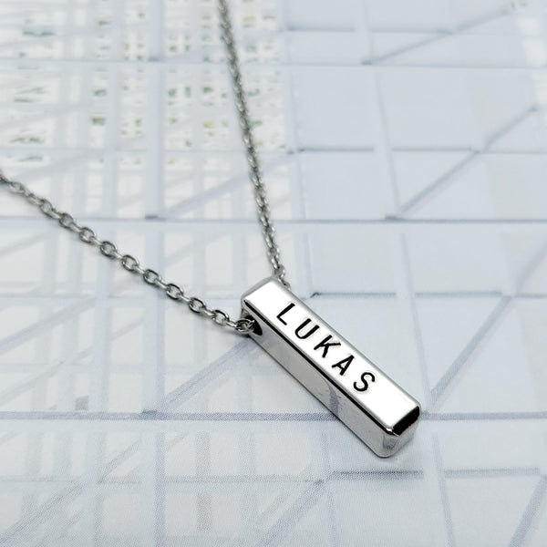 2 cm Bar Necklace (max. 5 characters)