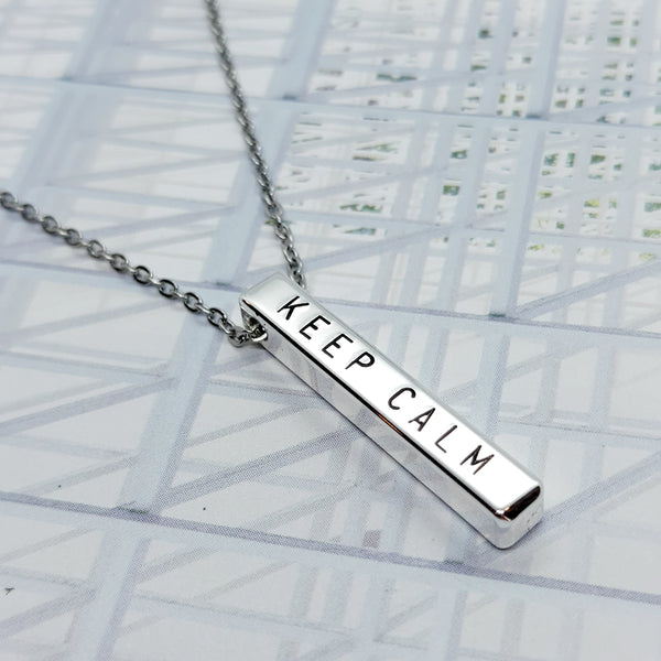 3 cm Bar Necklace (max. 9 characters)