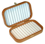 Cherry Wood deluxe fly box with Ripple Foam