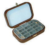 American Walnut Deluxe Fly Box with 16 Compartments by Richard Wheatley