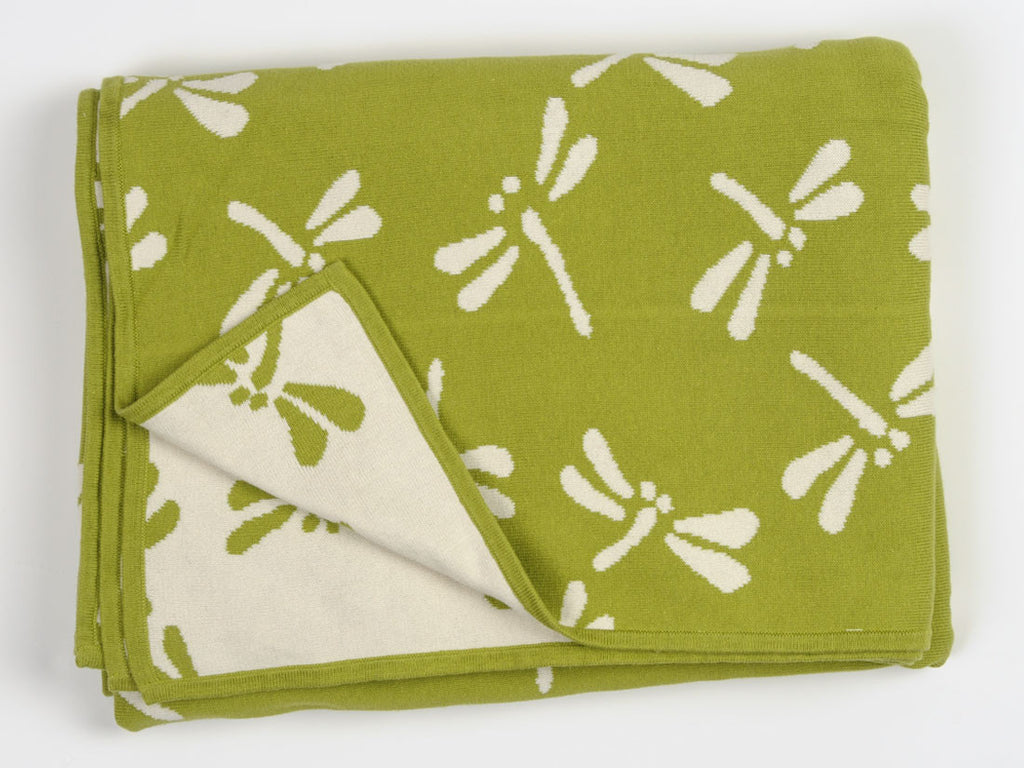 Cotton Dragonfly Throw