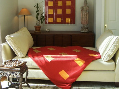 Cashmere Red Truth Throw