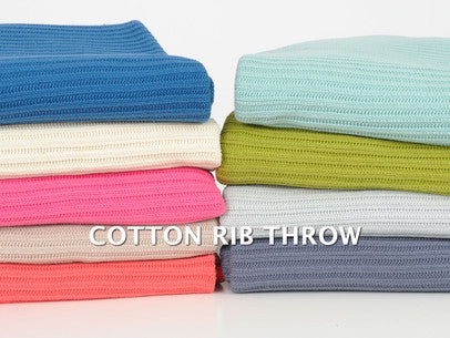 Cotton Ribbed Throw