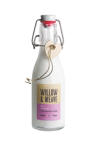 Willow & Weave Hand and Body Lotion (available in six fragrances)