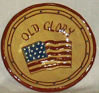 6 inch Old Glory Plate