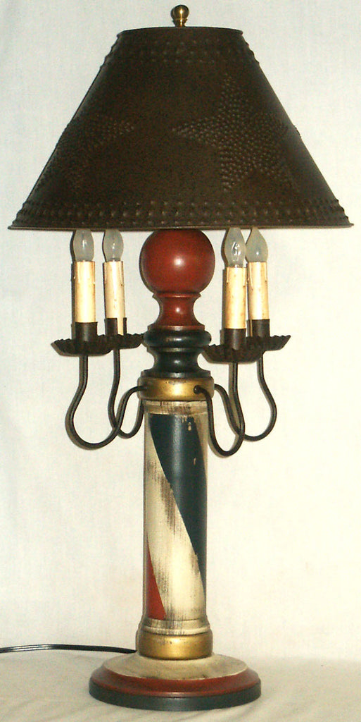 Barber Pole Lamp - Kitty's Ltd.