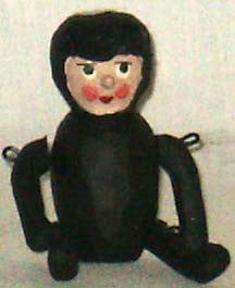 Penny Doll Black-suited Snow Baby - Kitty's Ltd.