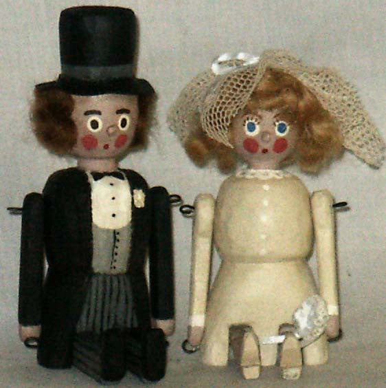 Penny Dolls Bride and Groom - Kitty's Ltd.