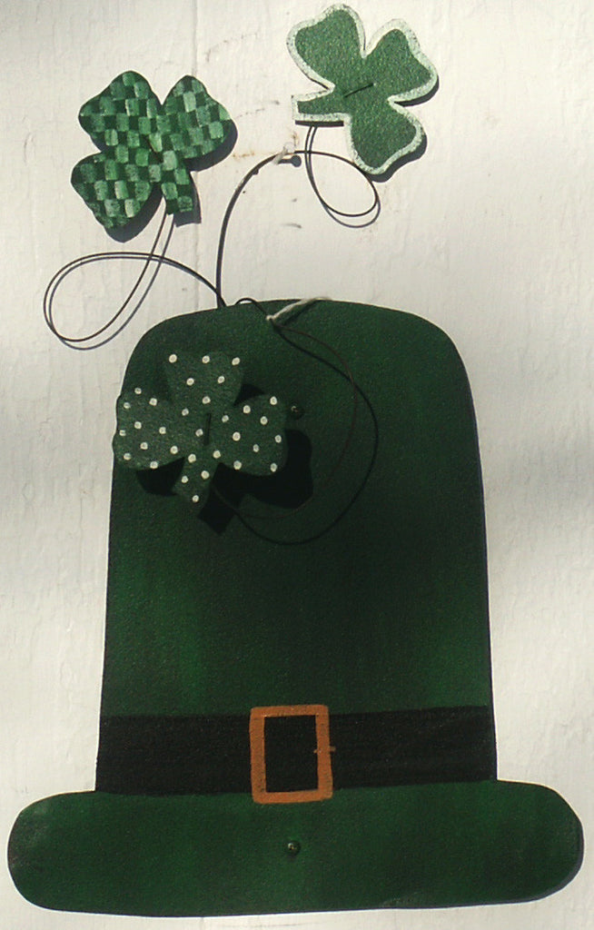 Hat with Shamrocks - Kitty's Ltd.