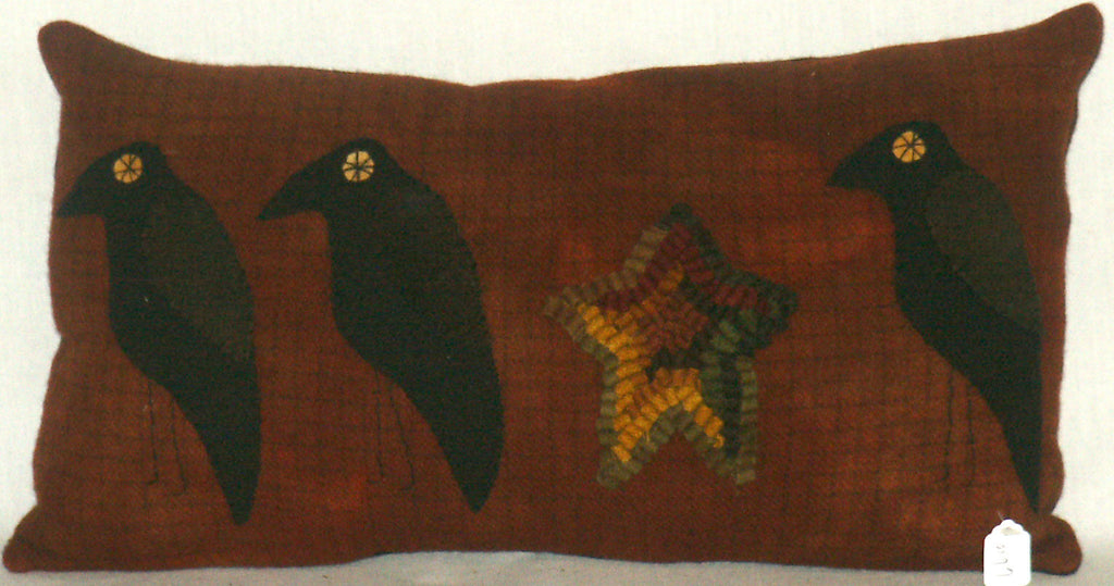 Pillow with Crows & Star - Kitty's Ltd.