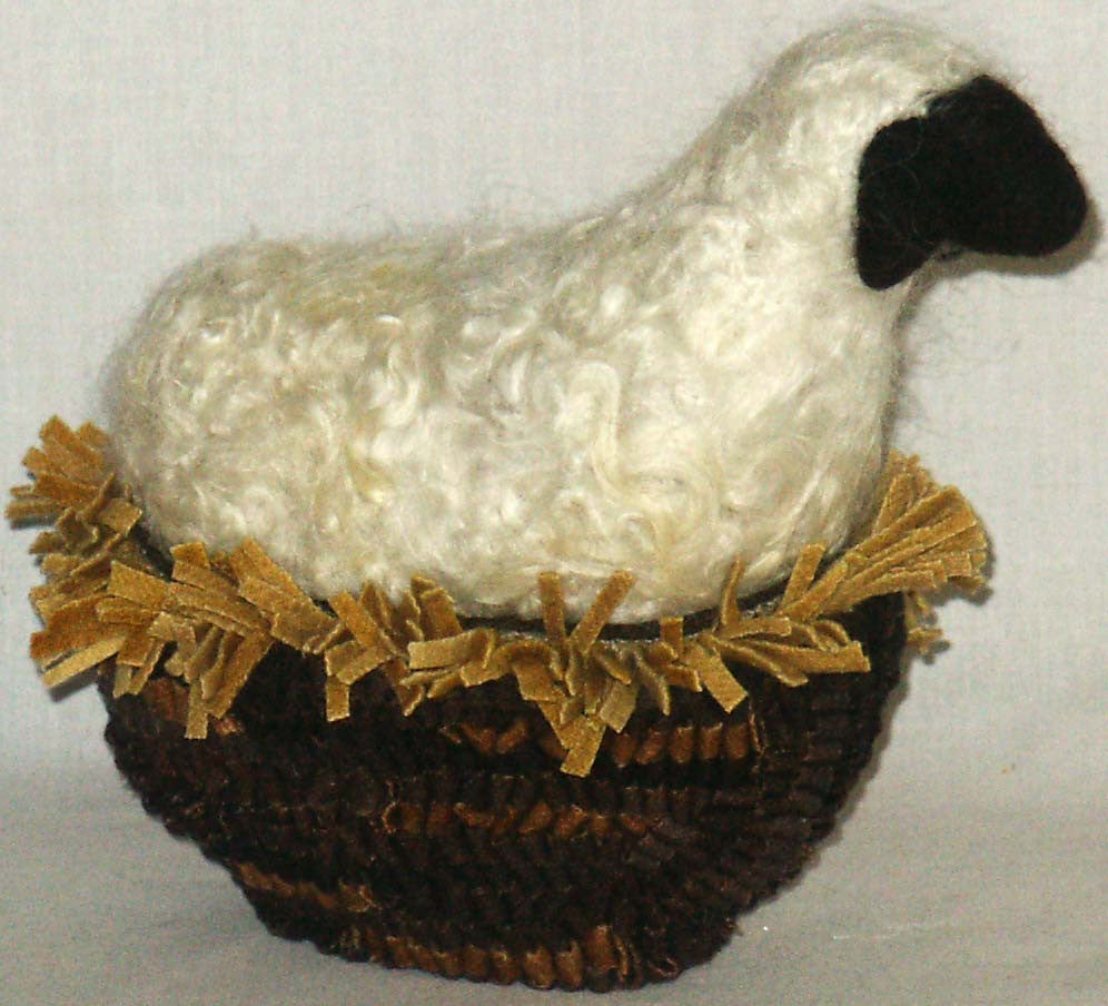 Sheep in Basket - Kitty's Ltd.