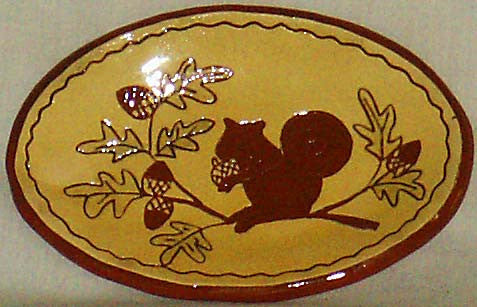 Squirrel & Acorns Plate - Kitty's Ltd.