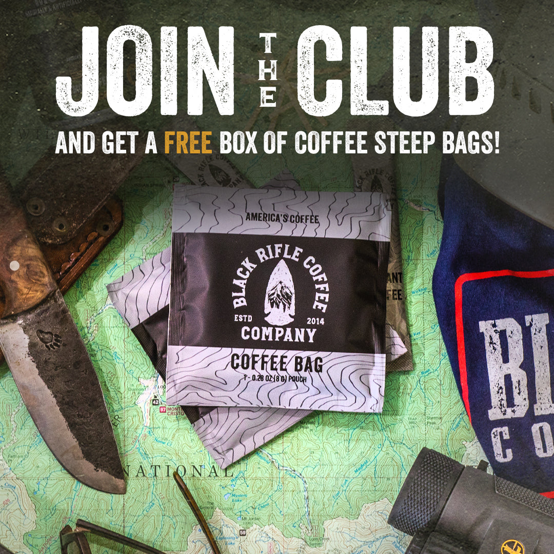 Join The Club and get a free box of Coffee Steep Bags!