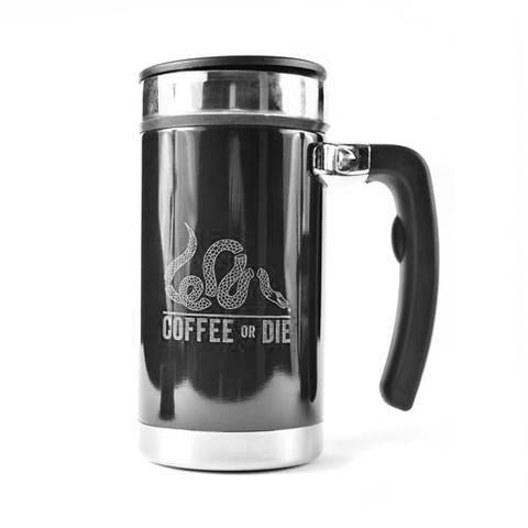 Coffee or Die Desk Press - Classic Grey