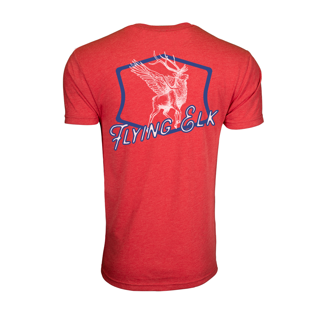 ECS - Flying Elk T-Shirt, Vin Red