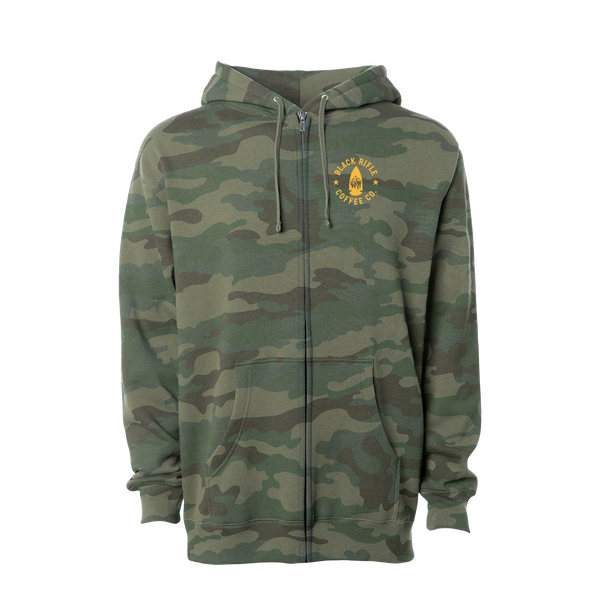 Sawtooth LC, Zip-Up Hoodie, FRST Camo