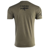 CAF COFFEE Spade T-Shirt - Black on Green - Black Rifle Coffee Company - 2