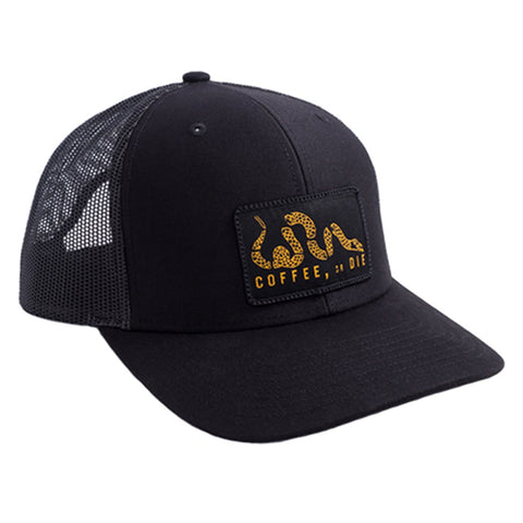 """Coffee, or Die"" Patch Trucker Hat"