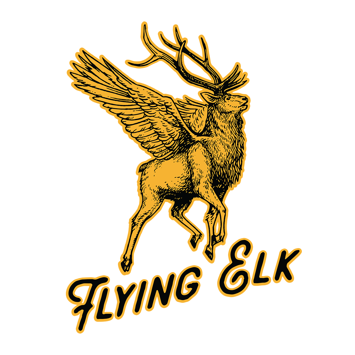 Flying Elk Sticker