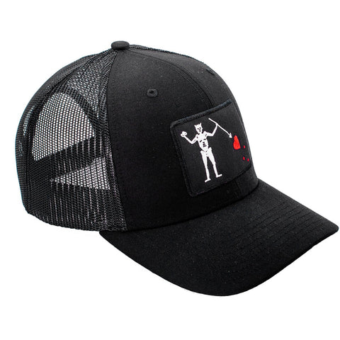 Blackbeard's Flag Trucker Hat - All Black