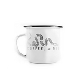 15 OZ BRCC Enamel Mug - Coffee or Die logo - Black Rifle Coffee Company - 1