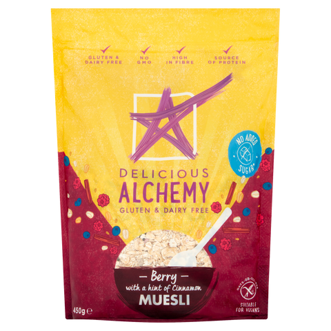 Gluten & Dairy Free Berry Muesli - with a Hint of Cinnamon (Box of 5 Bags)