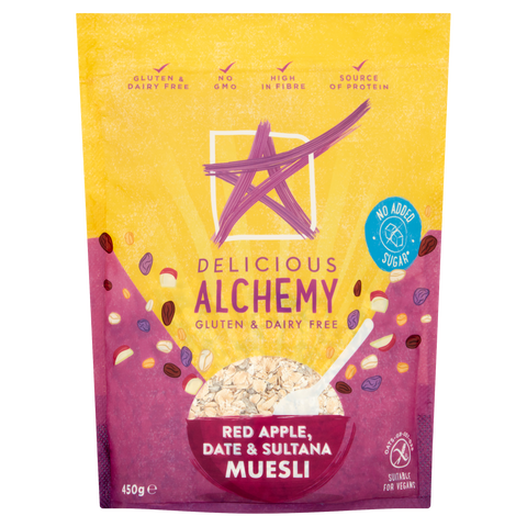 Gluten & Dairy Free Red Apple, Date & Sultana Muesli (Box of 5 Bags)