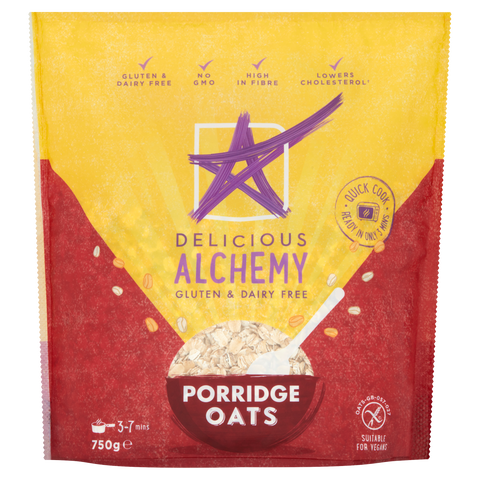 Gluten & Dairy Free Oats BIG PACK 750g (Box of 4 Bags)