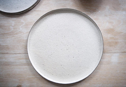 Takashi Endo - Crackled Plate in White
