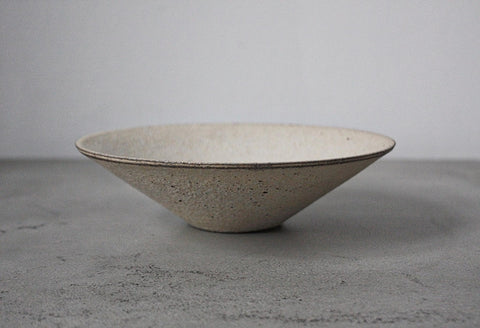Takashi Endo - Crackled Bowl in White