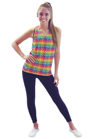 Rainbow Basketweave Tank