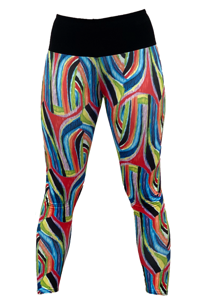 Rainbow Abstract Painting Yoga Pant