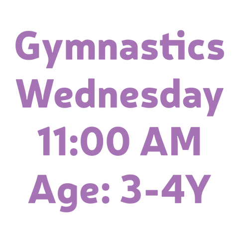 Gymnastics Wednesday 11:00AM 3-4