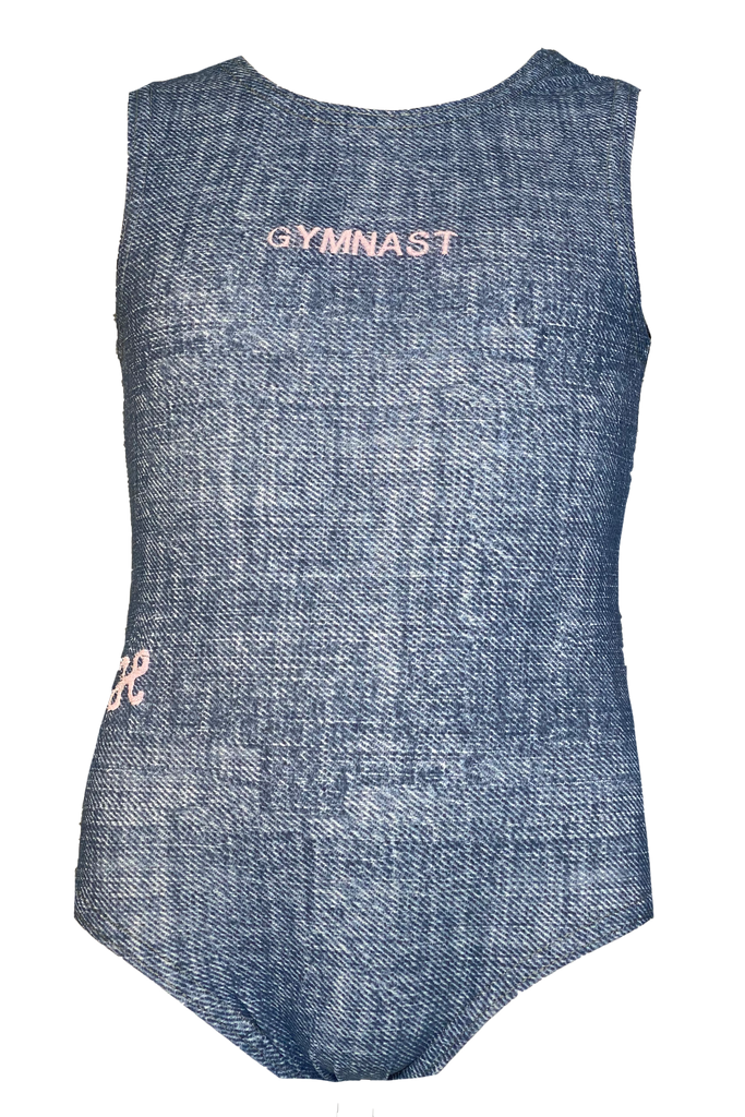Blue Denim Gymnast Leotard