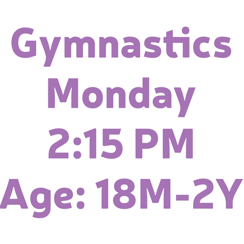 Gymnastics Monday 2:15PM 18M-2Y