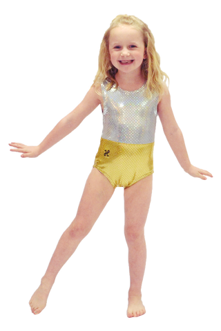 Gold and Silver Holographic Leotard
