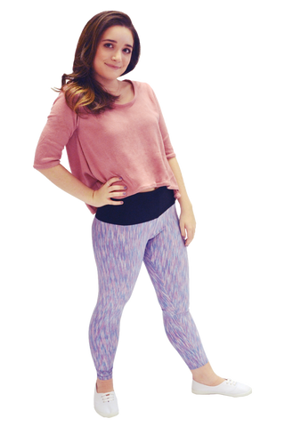 Blue and Mauve Strata Yoga Pant
