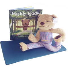 Meddy Teddy Set - Blue & Mauve Strata