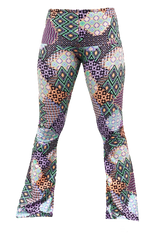 Pastel Patchwork Bell Bottom Yoga Pant
