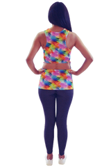 Rainbow Cut out Back Tank